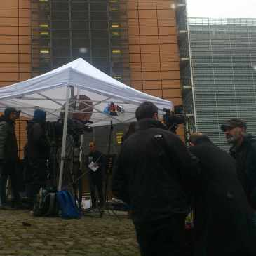 Day after Zaventem airport and Maelbeek Metro station bombings - Brussels