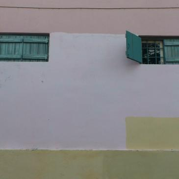 Accidentally Rothko, wall in Athens' old town of Plaka