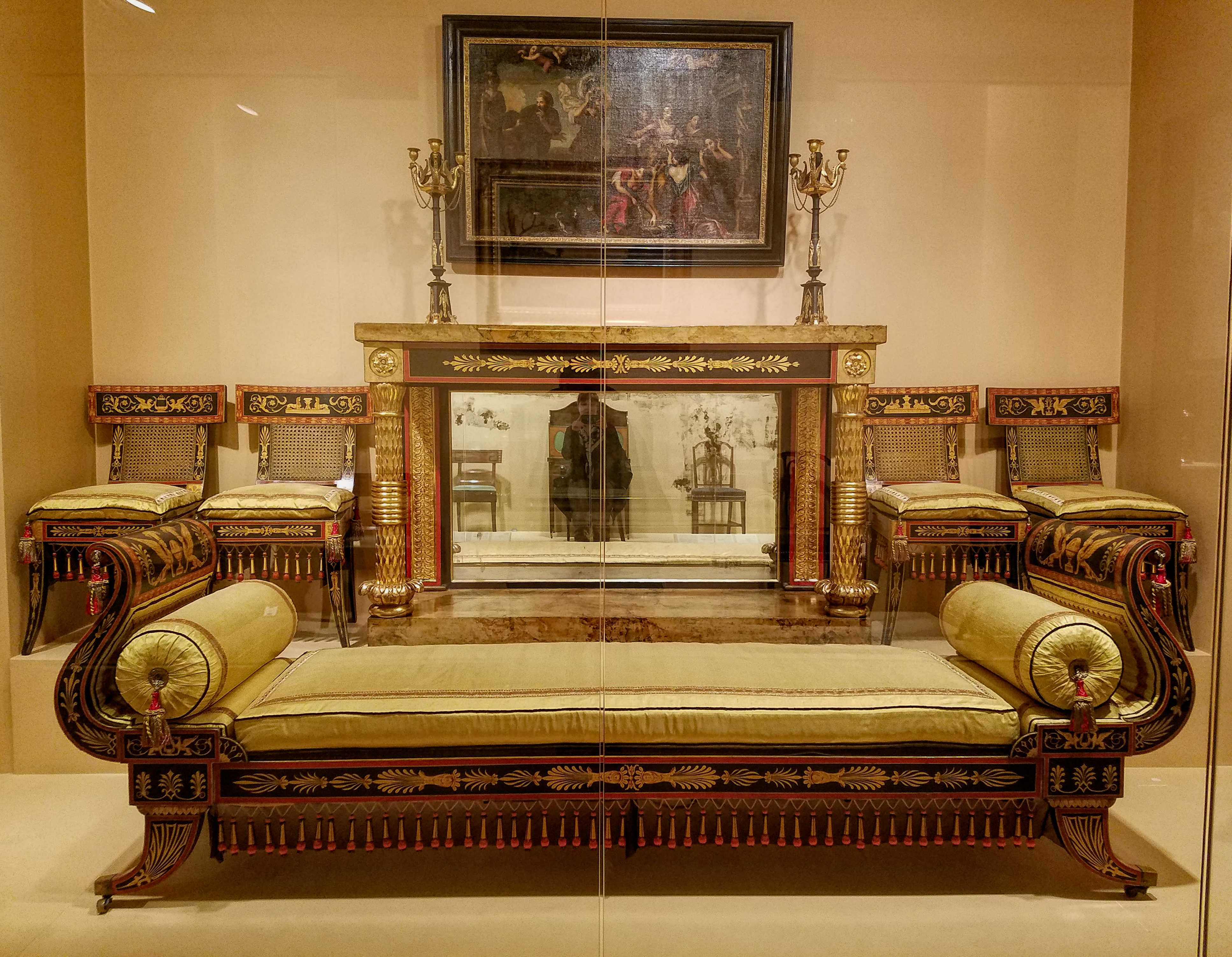 ... Philadelphia For The House Of Merchant William Waln And His Wife, Mary  Wilcocks Waln. Imitating Ancient Greek And Roman Furniture, Sumptuously  Painted, ...